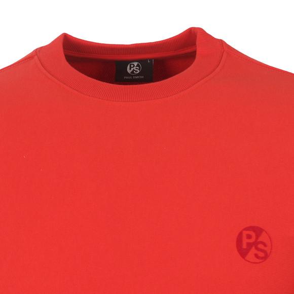 Paul Smith Mens Red Organic Cotton PS Logo Sweatshirt main image