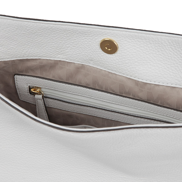 Michael Kors Womens White Heidi Mid Shoulder Bag main image