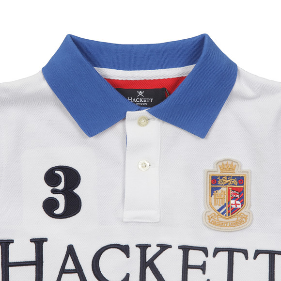 Hackett Boys White Boys Number Union Jack Polo Shirt main image