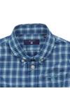 Gant Boys Blue Baby Dogleg Poplin Check Shirt