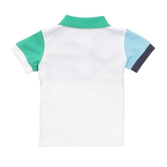 Gant Boys White Baby Colourblock Pique Polo main image