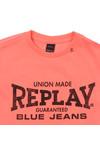 Replay Boys Pink Boys Large Logo T Shirt