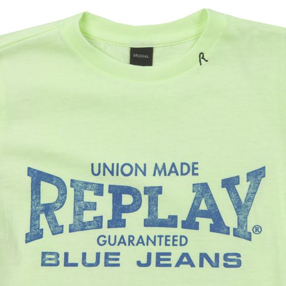 Replay Boys Green Boys Large Logo T Shirt main image