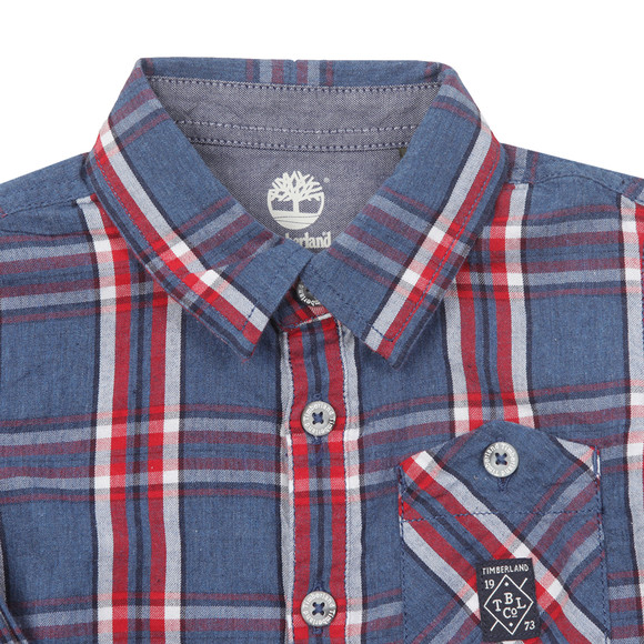 Timberland Boys Red Baby T05F55 Check Shirt main image
