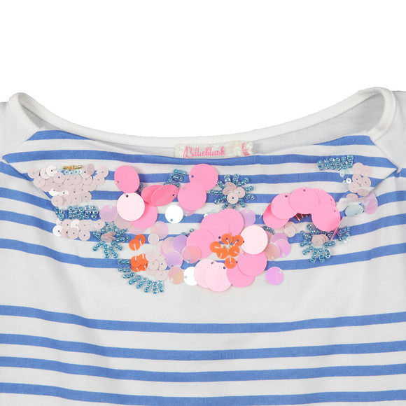 Billieblush Girls Blue Girls U15309 Stripe T Shirt main image