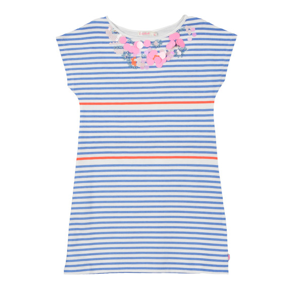 Billieblush Girls Blue Girls U12224 Stripe Dress main image