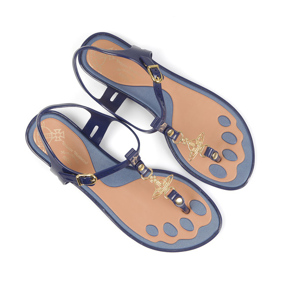 Vivienne Westwood Anglomania X Melissa Womens Blue Solar Orb Sandal main image