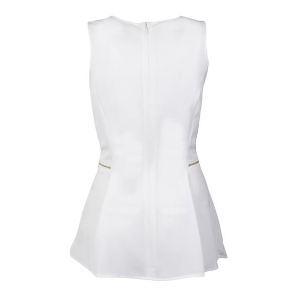 Michael Kors Womens White Sleeveless Zipper Waist Top main image