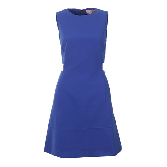 Ted Baker Womens Blue Panashe Cut Out Detail Tunic Dress main image