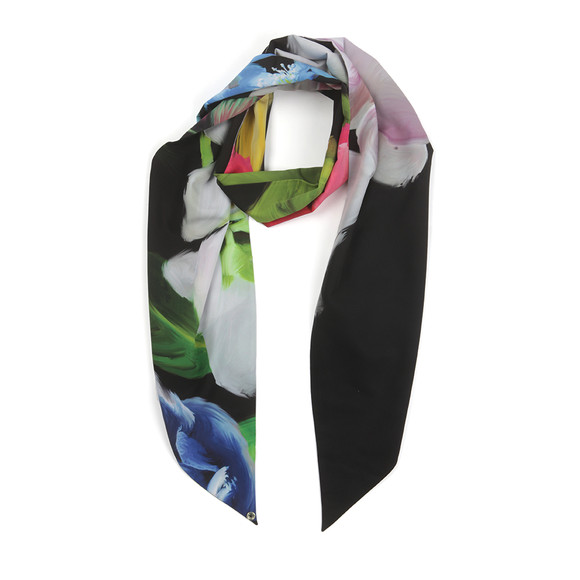 Ted Baker Womens Black Lynn Forget Me Not Skinny Scarf main image