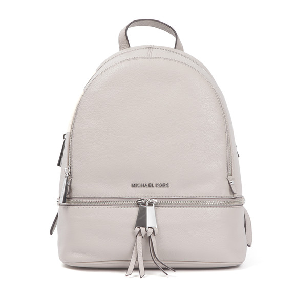 Michael Kors Womens Grey Rhea Zip Backpack main image