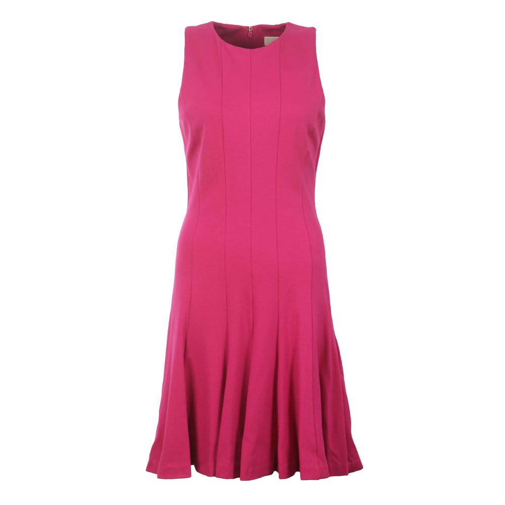 Sleeveless Seamed Flare Dress main image