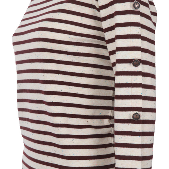 Maison Scotch Womens Red Long Sleeve Breton Top main image