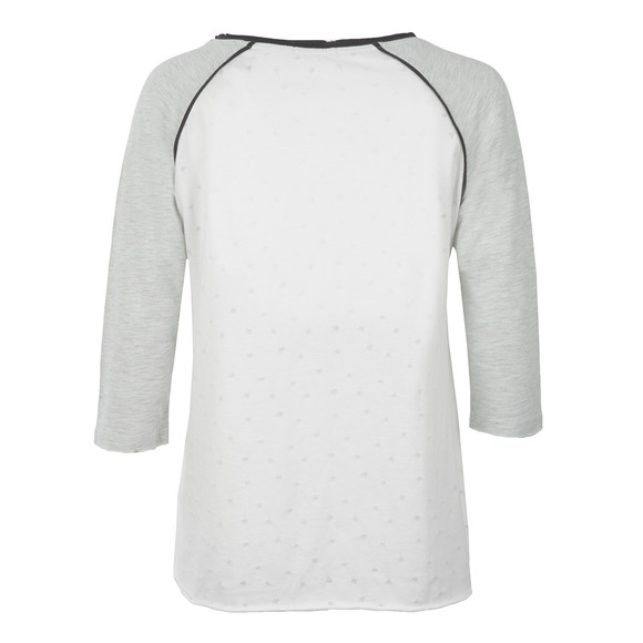 Maison Scotch Womens Off-white 3/4 Sleeve Wish Upon A Star Tee main image