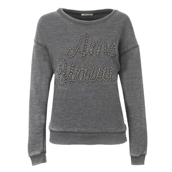Maison Scotch Womens Black Burn Out Theme Sweat main image
