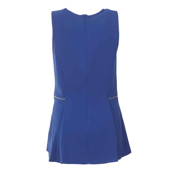 Michael Kors Womens Blue Zipper Waist Top main image
