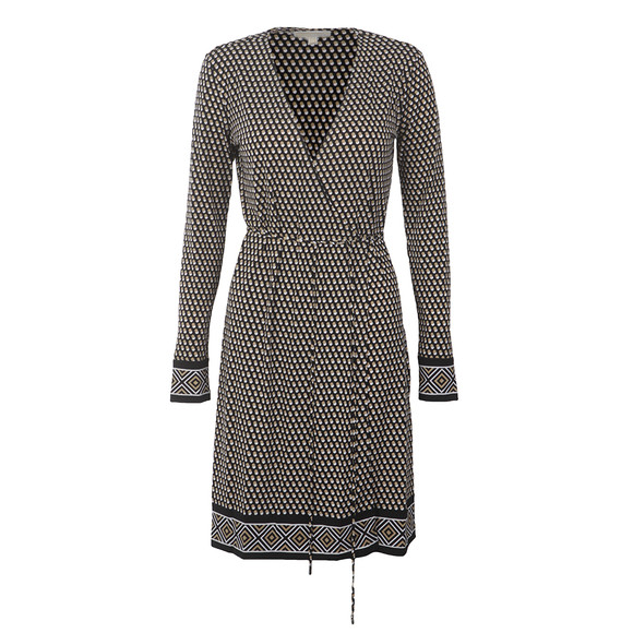 Michael Kors Womens Green Alston Border Wrap Dress main image