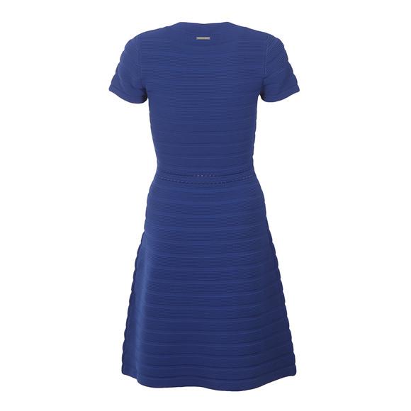 Michael Kors Womens Blue Ottoman Crewn Neck Dress main image