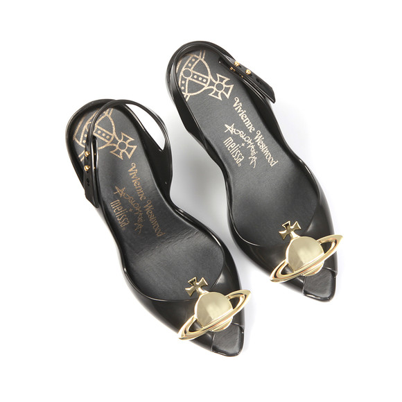 Vivienne Westwood Anglomania X Melissa Womens Black Lady Dragon 16 Heel main image
