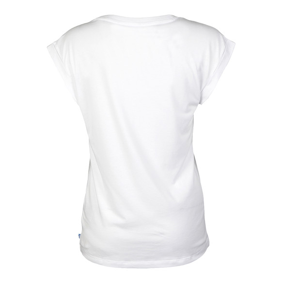 Adidas Originals Womens White Rolled Sleeve T Shirt main image