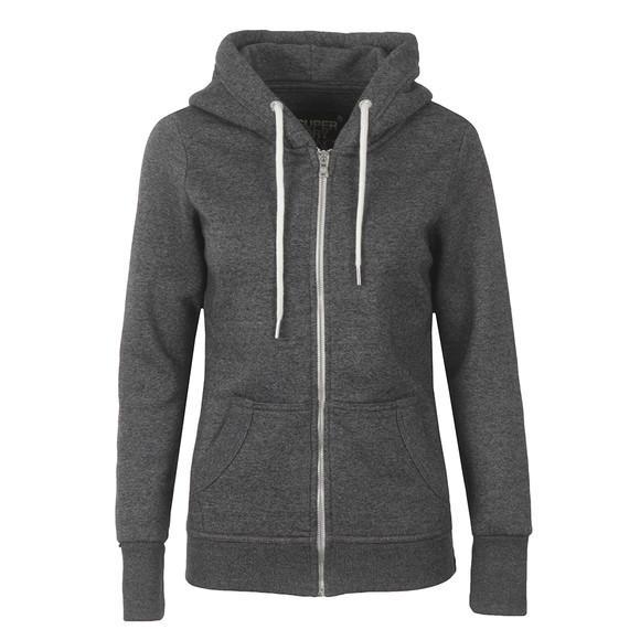 Superdry Womens Grey OL Luxe Edition Zip Hoody main image