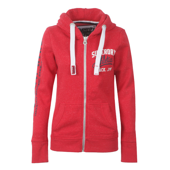 Superdry Womens Red Track & Field Zip Hoody main image