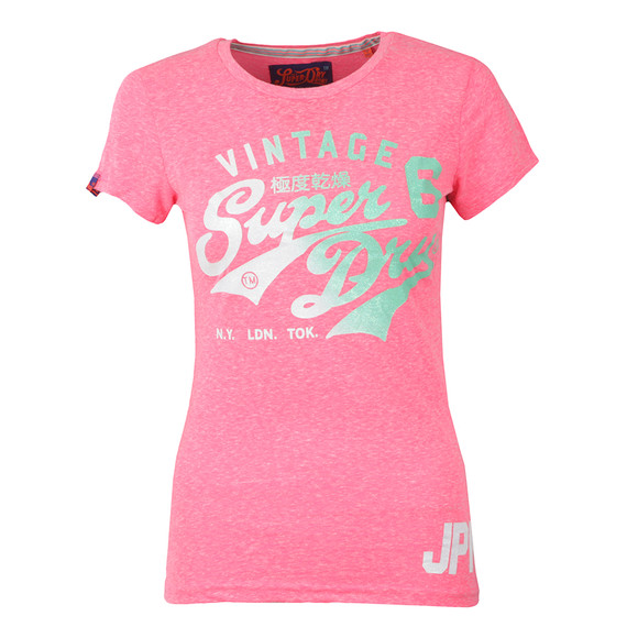 Superdry Womens Pink Stacker Tee main image