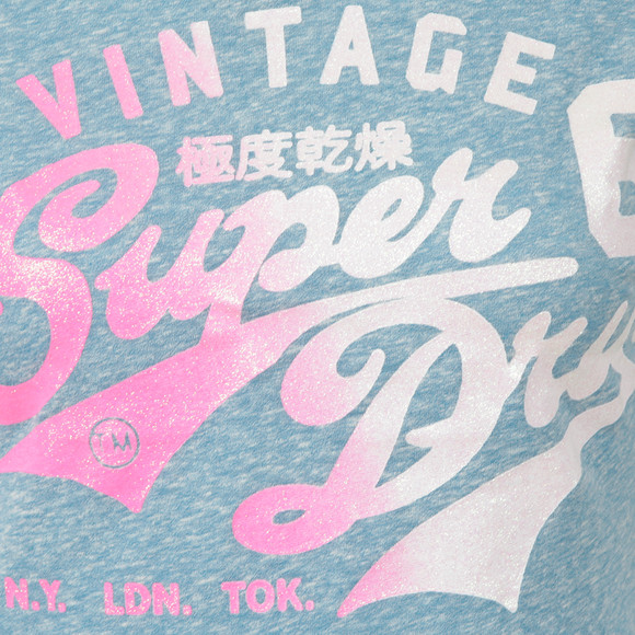 Superdry Womens Blue Stacker Tee main image
