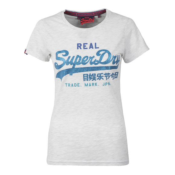 Superdry Womens Grey Vintage Logo Tri Entry Tee main image