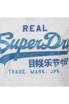 Superdry Womens Grey Vintage Logo Tri Entry Tee