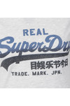 Superdry Womens Grey Vintage Logo Overdyed AOP Tee
