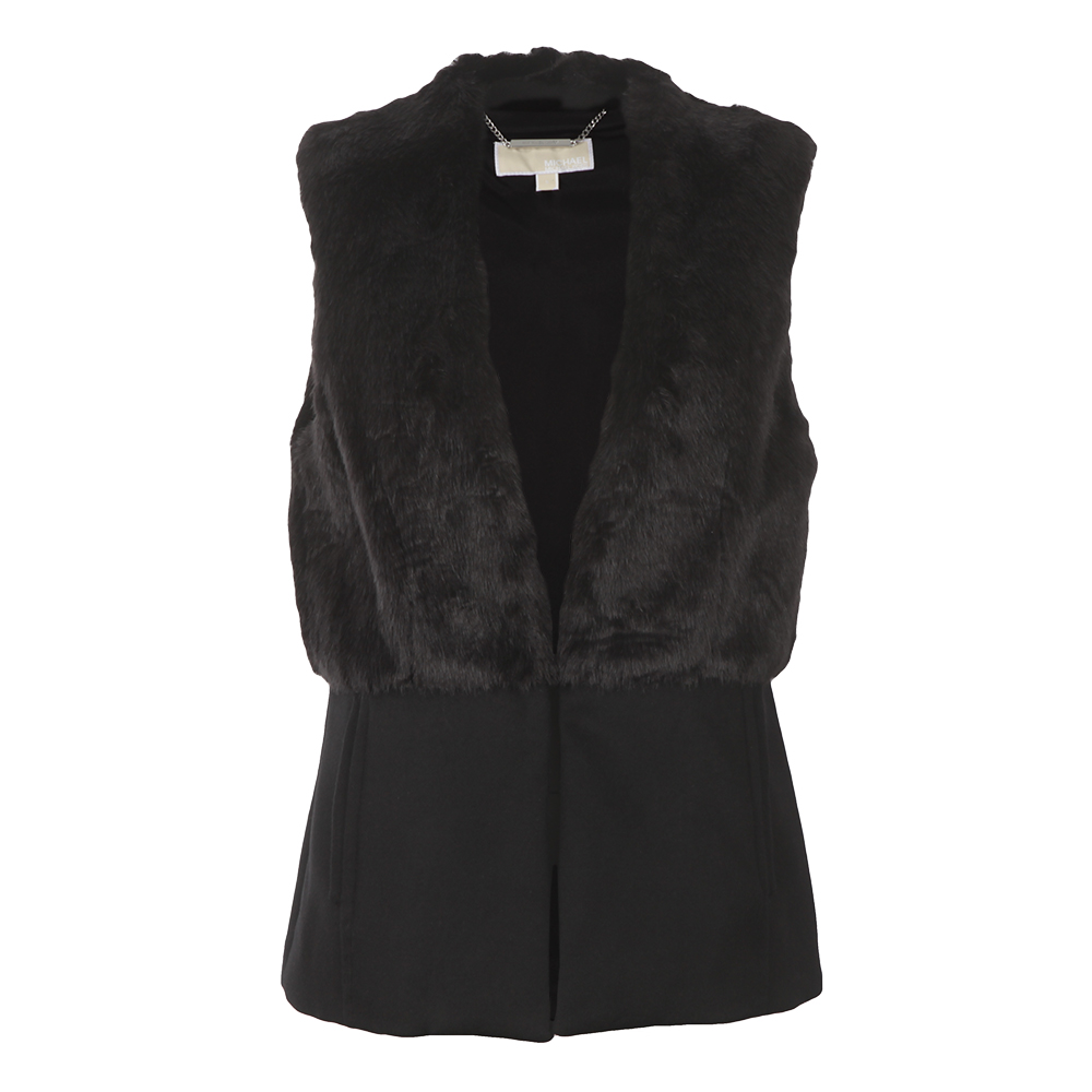 Fitted Faux Fur Vest main image
