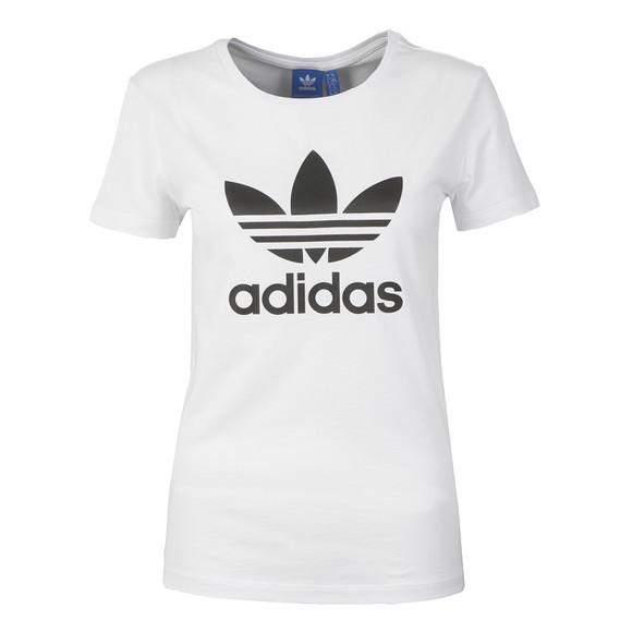Adidas Originals Womens White Trefoil T Shirt main image