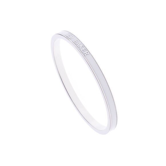 Ted Baker Womens White Clary Narrow Enamel Bangle main image