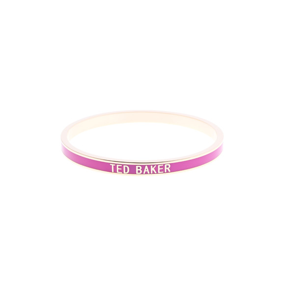Ted Baker Womens Pink Clary Narrow Enamel Bangle main image