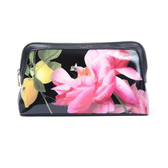 Ted Baker Womens Black Januar Citrus Bloom Large Washbag main image