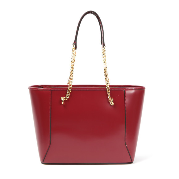 Ted Baker Womens Red Jalie Geometric Bow Leather Shopper main image