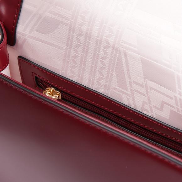 Ted Baker Womens Red Gerri Geometric Bow Top Handle Bag main image