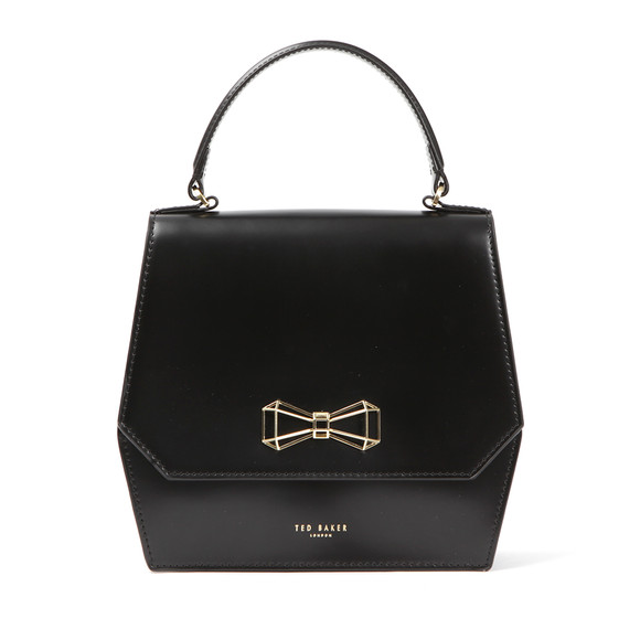 Ted Baker Womens Black Gerri Geometric Bow Top Handle Bag main image