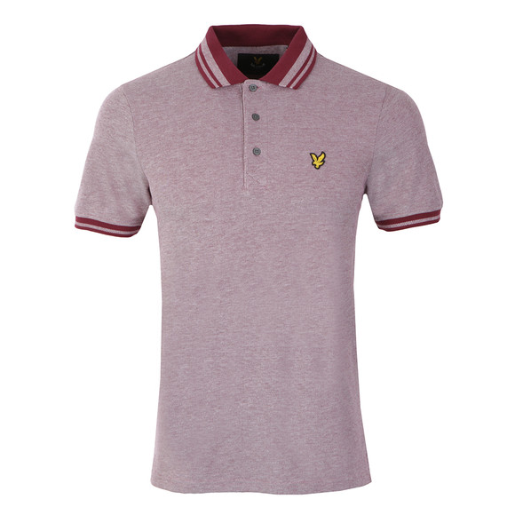 Lyle and Scott Mens Red S/S Oxford Polo main image