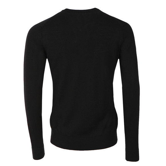 Farah Mens Black Mullen Wool Crew Jumper main image
