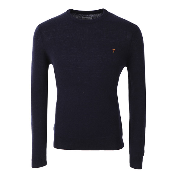Farah Mens Blue Rosecroft Knitted Crew Jumper main image