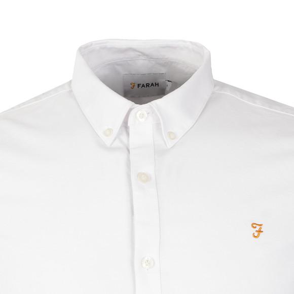 Farah Mens White Brewer Oxford Shirt main image