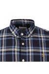 Farah Mens Blue L/S Fal Check Shirt