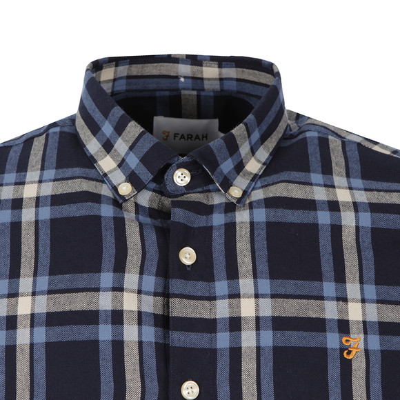 Farah Mens Blue L/S Fal Check Shirt main image