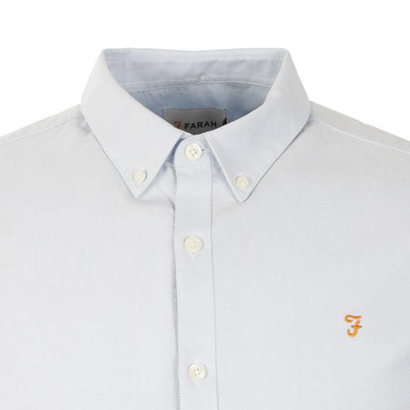 Farah Mens Blue Brewer L/S Oxford Shirt main image