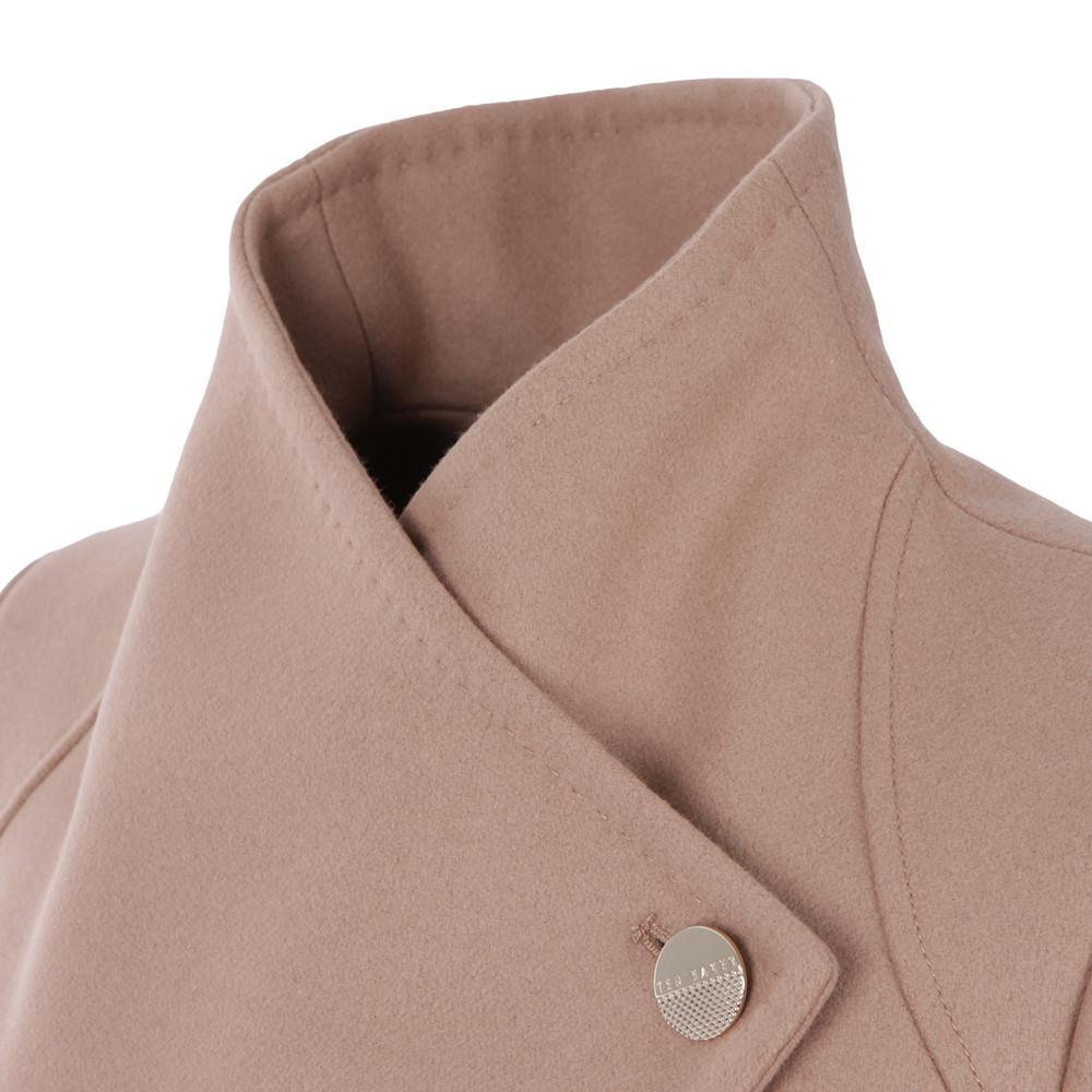 Elethea Short Wrap Collar Coat main image