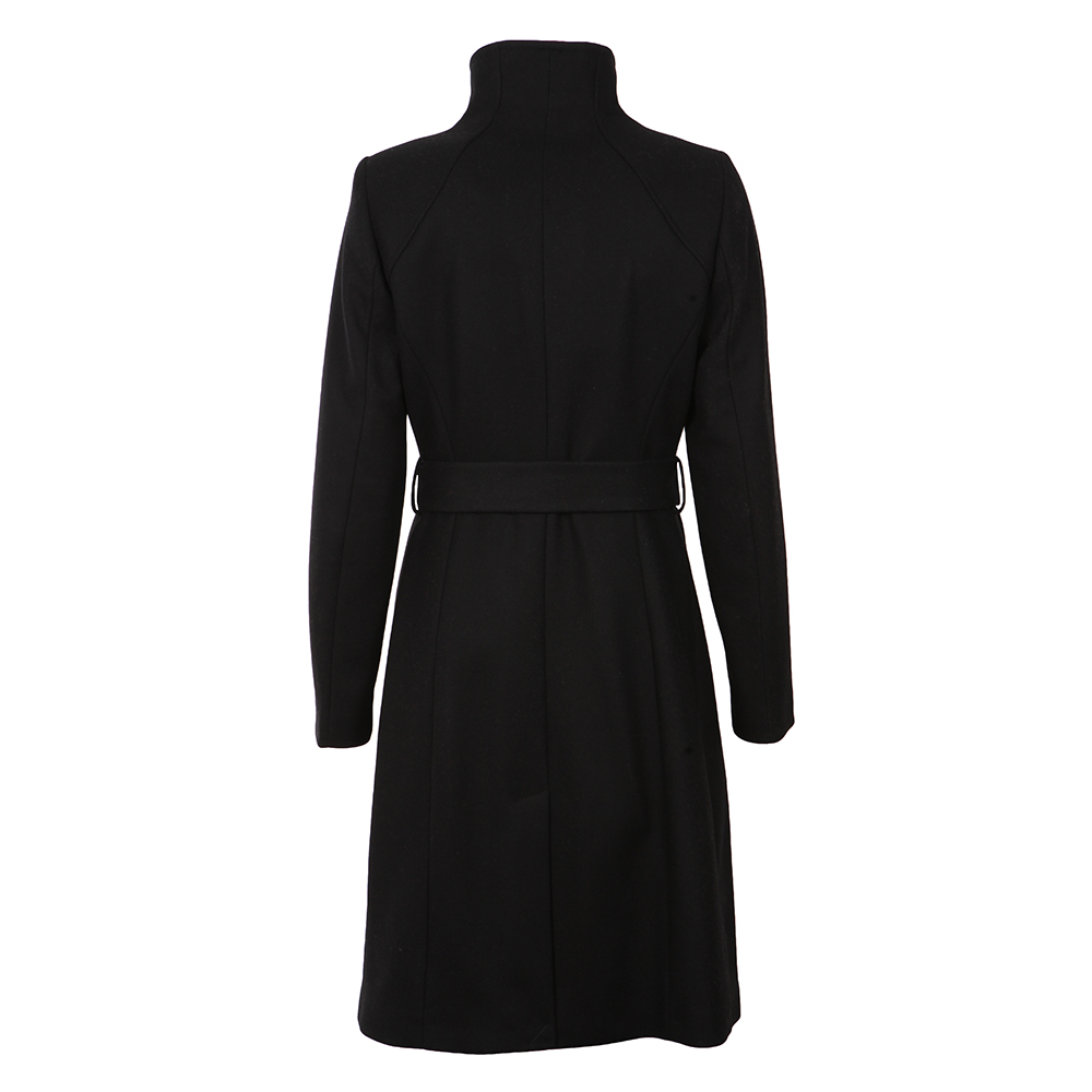 Afina Contrast Lepel Long Wrap Coat main image