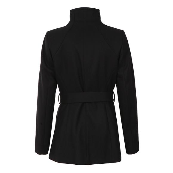 Ted Baker Womens Black Elethea Short Wrap Collar Coat main image
