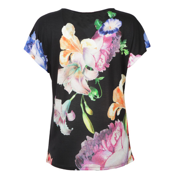 Ted Baker Womens Black Woesy Tapestry Flora Tee main image